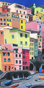 Riomaggiore 2 by Lisa Darlington