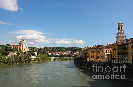 River Adige view in Verona by Kiril Stanchev