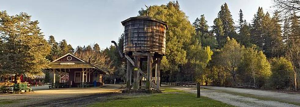 Roaring Camp Station Panorama by Larry Darnell