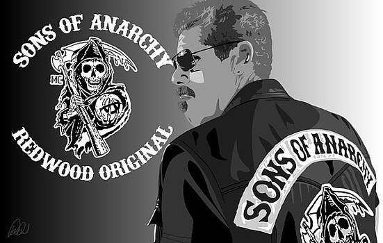 Ron Perlman as Clay from Sons of Anarchy  by Paul Dunkel