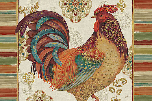 Rooster Rainbow Iva by Daphne Brissonnet
