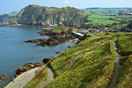 Rugged coastline at Ilfracombe UK 1990 by David Davies