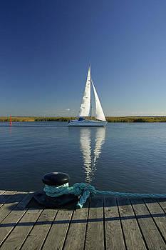 Sailboat at Zingst Germany by David Davies