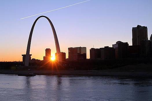 Saint Louis Arch Sunset by David Yunker