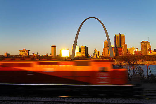 Saint Louis Morning Train by David Yunker