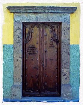 San Miguel de Allende Door 13 by Britton Britt Cagle