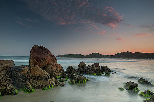 Scenic View Of Praia Do Rosa Beach by Alex Saberi