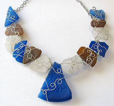 Sea glass necklace by Tareen Rayburn
