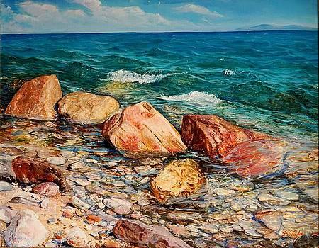 Seascape - Red Rocks  by Sefedin Stafa