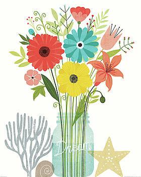 Seaside Bouquet Iii Mason Jar by Michael Mullan