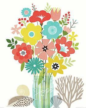 Seaside Bouquet Iv Mason Jar by Michael Mullan