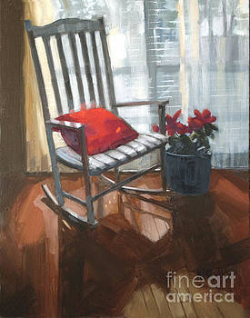 SOLD - Seeing Red  by Nancy  Parsons