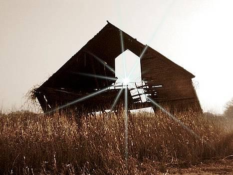 Sepia Haunted Barn by Trevor Hilton