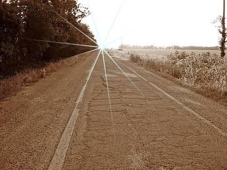 Sepia Sidewalk Highway by Trevor Hilton