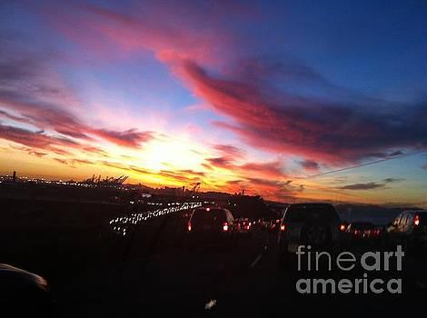 SF bay area sky by Sherri Durrell
