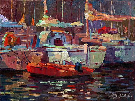 Shadow of the boats by Tony Song