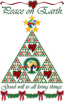 Sierpinski Triangle Christmas Card by Ceilon Aspensen