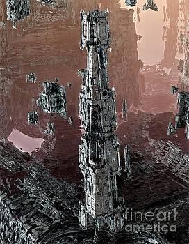 Silver tower by Bernard MICHEL