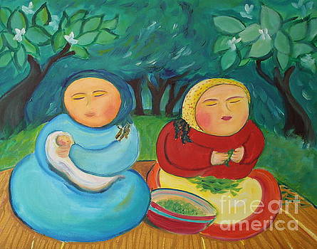 Sisters and Green Beans by Teresa Hutto