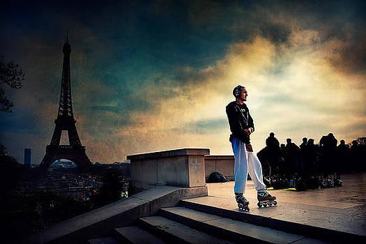 skater in Paris  by Franco Farina