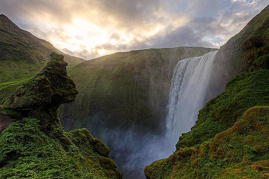 Skogafoss Sunset by Chris Allington