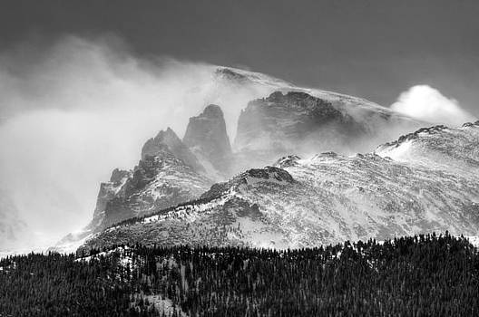 Snow blowing off the peaks by Steve Barge