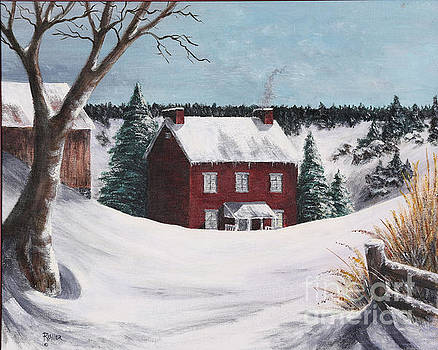 Snowy Winter Day by Rita Miller
