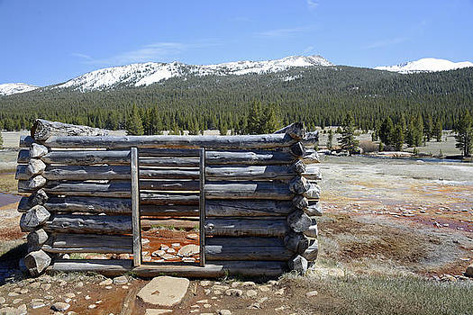 Soda Springs Cabin in Yosemite National Park by Bruce Gourley