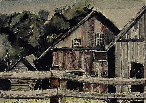 Somers Barn by Amy McConnell Burris
