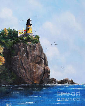 Split Rock Lighthouse Minnesota by Rita Miller