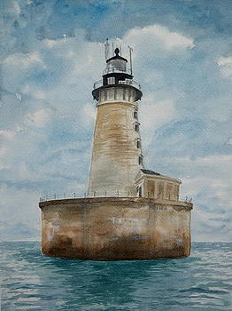 Stannard Rock Lighthouse by Lisa Pope