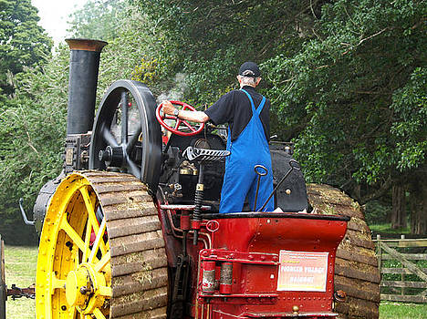 Steam Tractor Moves On 2 by Patricia Howitt