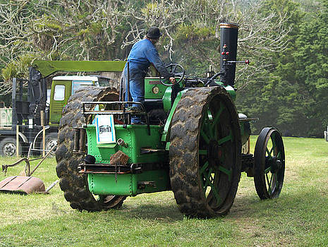Steam Tractor Moves On by Patricia Howitt