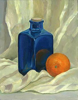 Still life with orange by Nonna Mynatt
