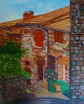Street of Assisi by Beata Dagiel