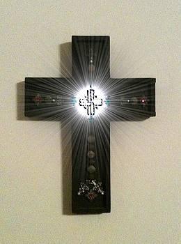 Sun Button Cross by Brett Smith