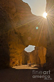 Sun over Natural Bridge by Athena Lin