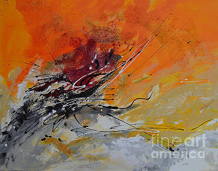 Sunrise - Abstract 1 by Ismeta Gruenwald