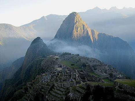 Sunrise over Machu Picchu by Elizabeth Hardie