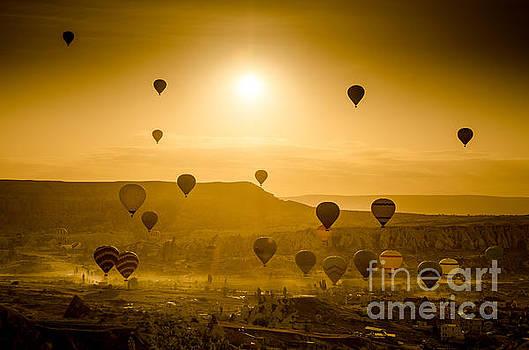 Sunrise takeoff - Cappadocia Turkey by OUAP Photography