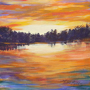 Sunset at Bass Lake by Trudy Morris