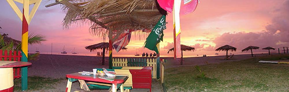 Sunset at sunshines bar by Sharon Theron