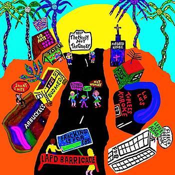 Sunset Boulevard Protest by Rocky Johnson