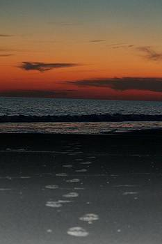 Sunset Footprints by Joanne Askew