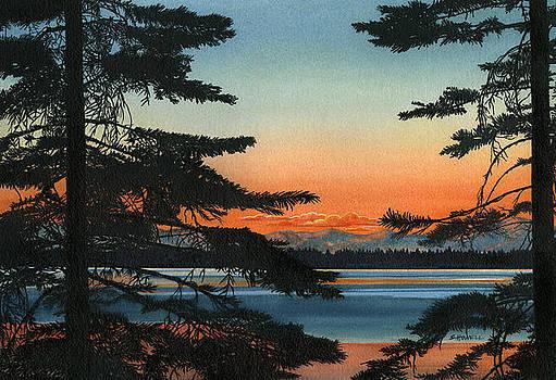 Sunset on Fallen Leaf Lake by Sandi Howell