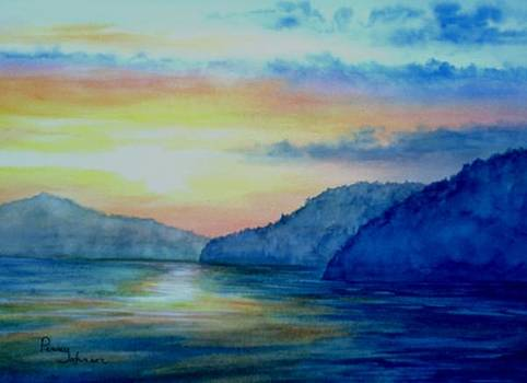 Sunset On The Lake by Penny Johnson