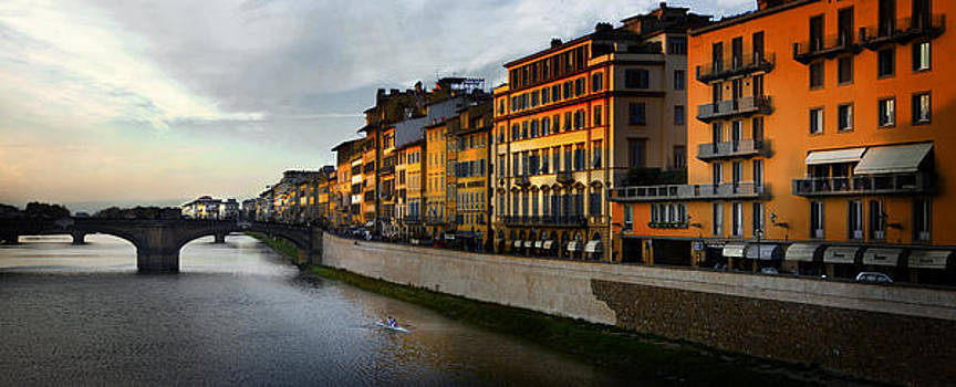 Sunset on The Tiber by John Hix