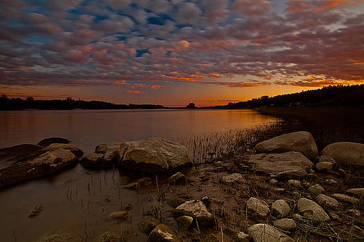 Sunset over Bellwood Lake by Craig Brown
