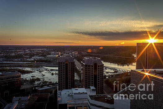 Sunset Over the James by Debra K Roberts