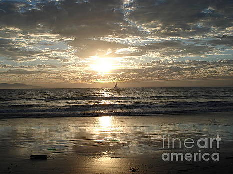 Sunset Sail by Crystal Joy Photography